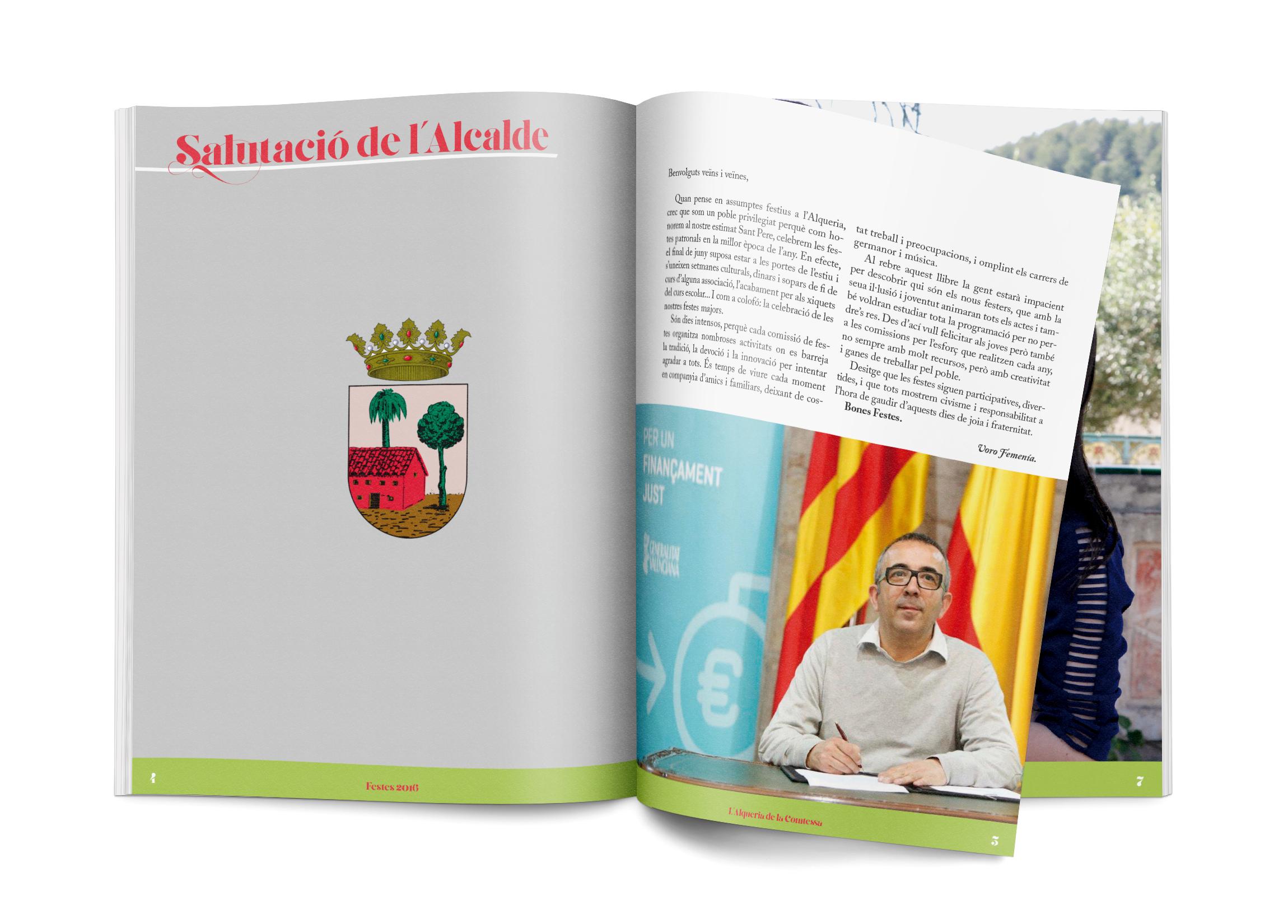 Salutacio Alcalde — Llibre de Festes 2016