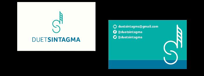 Disseny de targetes de visita Duet Sintagma